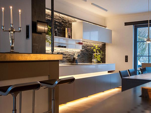 Küchenbeleuchtung In Einer Modernen Küche