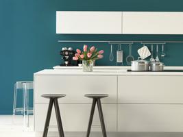 farben in der k che so wird die k che bunt tipps von. Black Bedroom Furniture Sets. Home Design Ideas