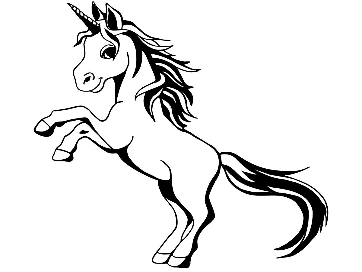 einhorn zum ausdrucken und ausmalen  unicorn barvanje