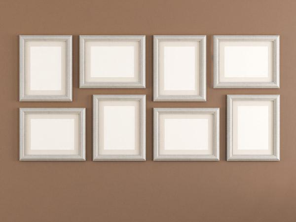 passende fotorahmen finden und fotos richtig anordnen. Black Bedroom Furniture Sets. Home Design Ideas