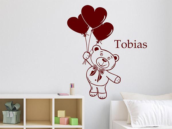 Wandtattoo Teddy im Kinderzimmer