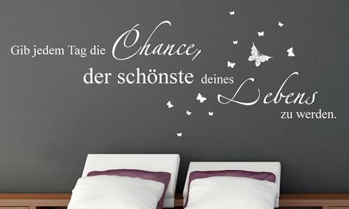 Wandtattoo Sprüche zur Wandgestaltung | WANDTATTOO.DE