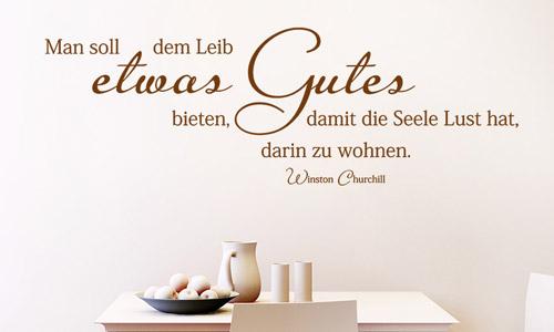 wandtattoo zitate und kreative wandsprüche   wandtattoo.de - Sprüche Für Die Küchenwand
