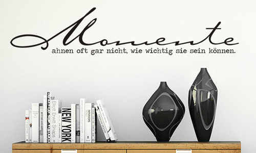 wandtattoo spr che zur wandgestaltung wandtattoo de. Black Bedroom Furniture Sets. Home Design Ideas
