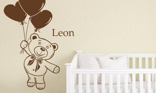Kinderzimmer Wandtattoos - Kindermotive Mit Namen | Wandtattoo.de Babyzimmer Wandgestaltung Neutral