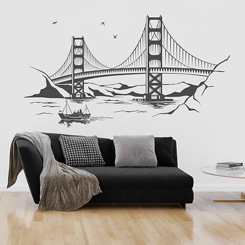 Wandtattoo Golden Gate Bridge in San Francisco