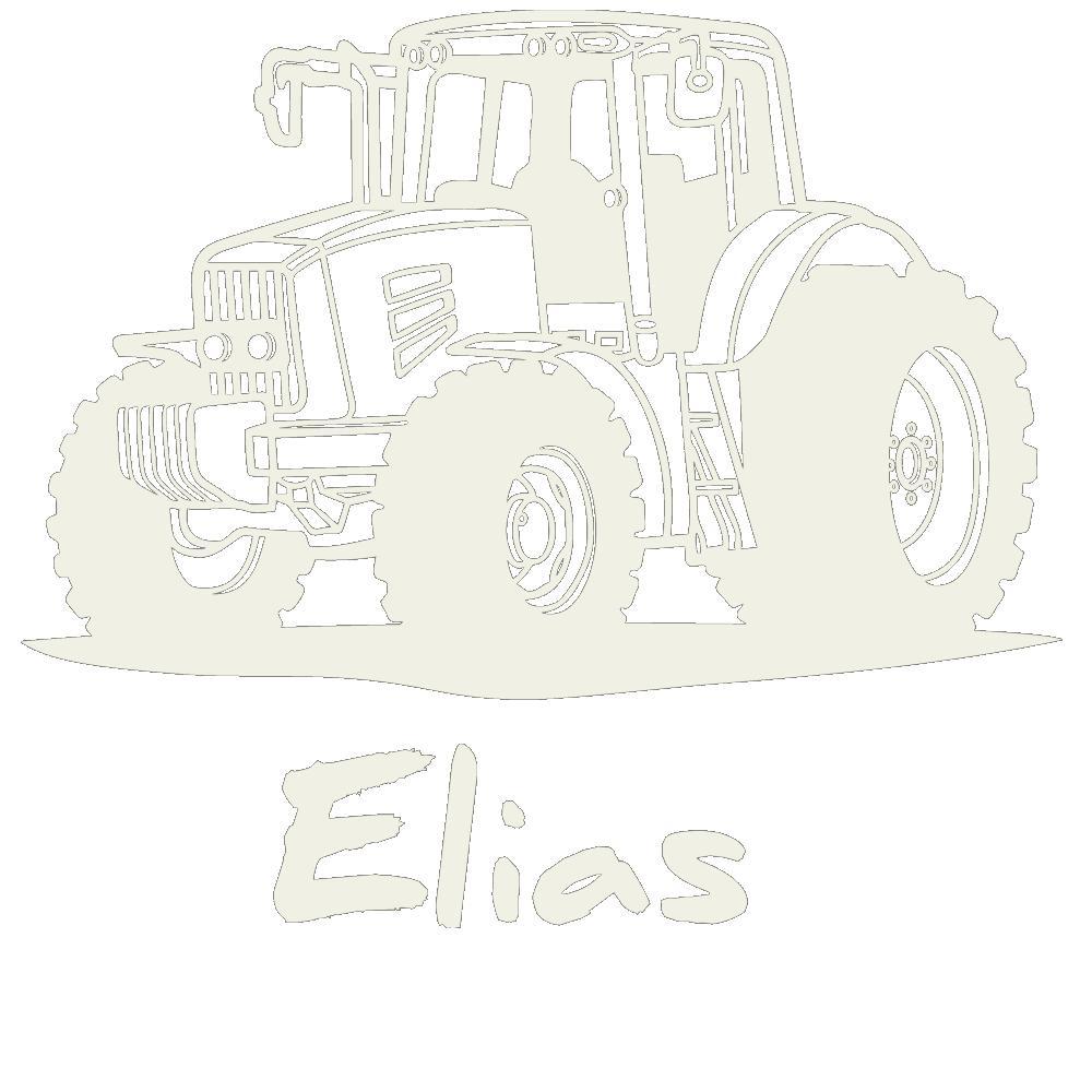 Wandtattoo Traktor Mit Wunschname