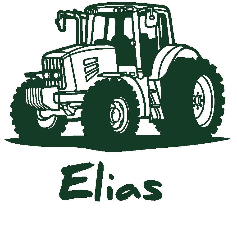 Wandtattoo traktor mit wunschname kinderzimmer deko for Traktor wandtattoo