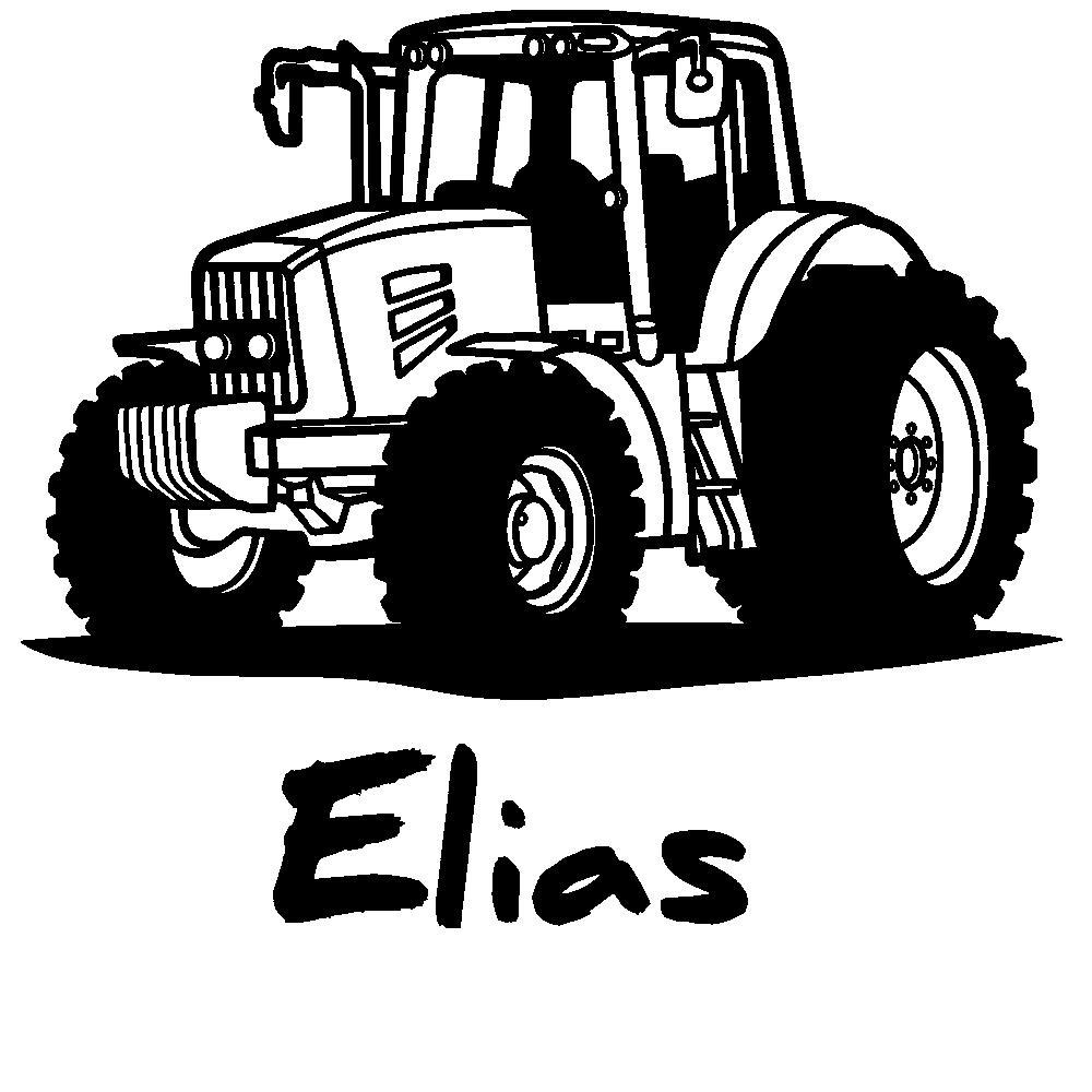 Wandtattoo traktor mit wunschname kinderzimmer deko jungen von designscape ebay - Wandtattoo traktor kinderzimmer ...