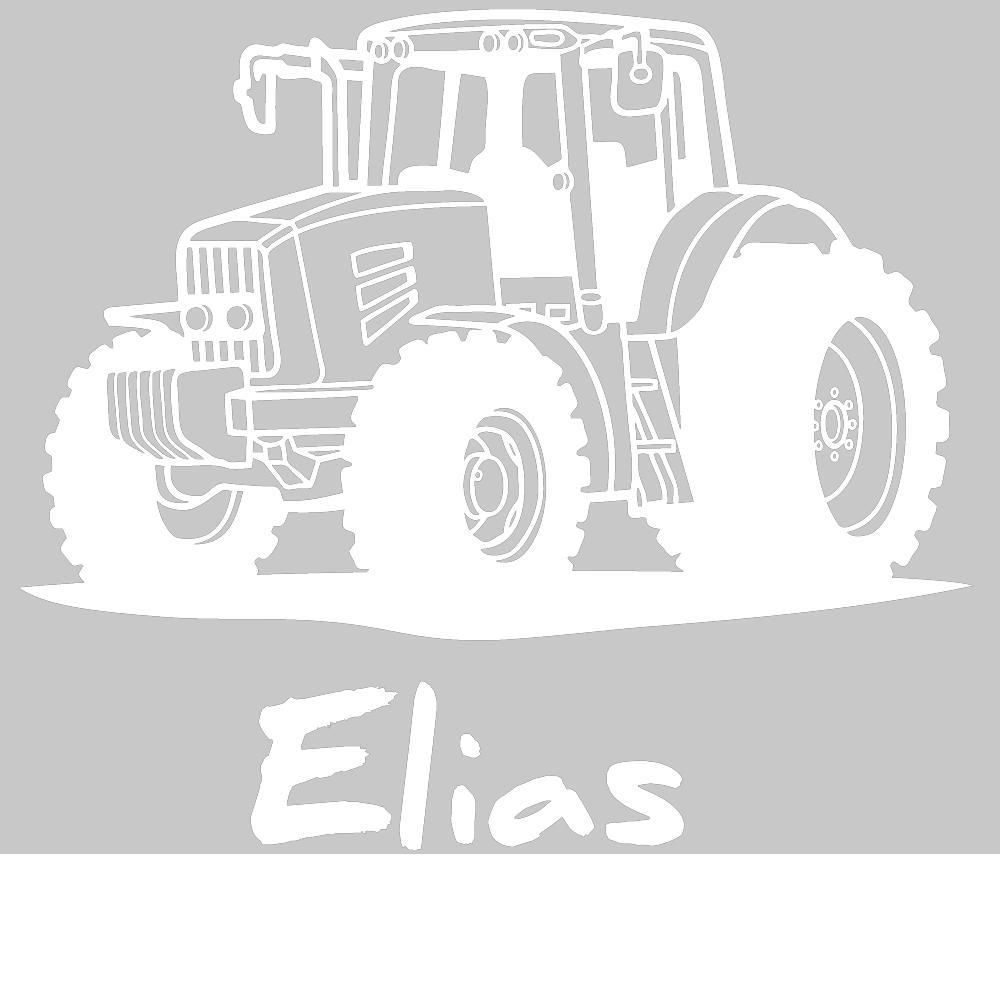 Wandtattoo Traktor Mit Wunschname Kinderzimmer Deko Jungen Von