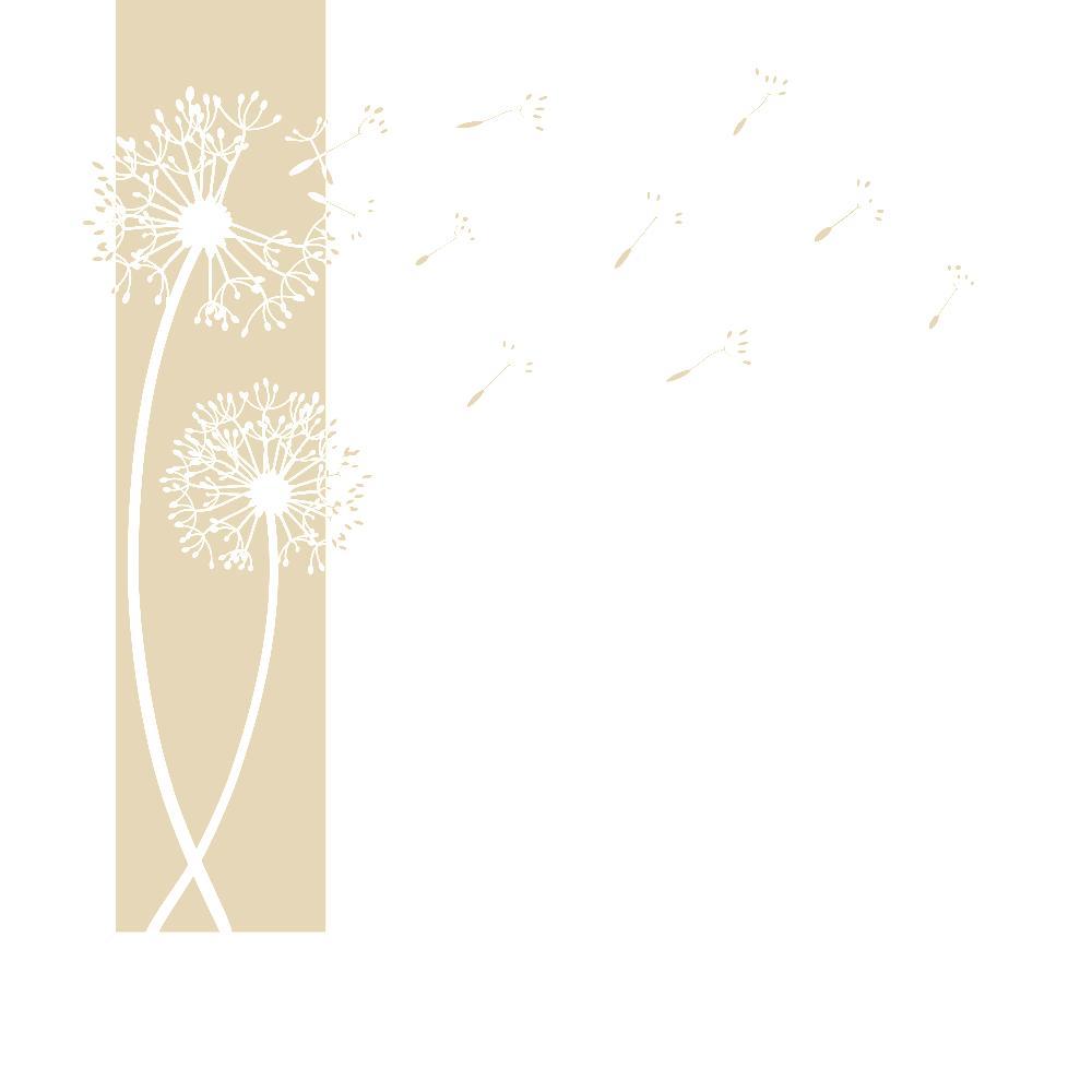 Designscape wandtattoo banner pusteblumen pusteblume wandbanner ebay - Wandtattoo pusteblume amazon ...