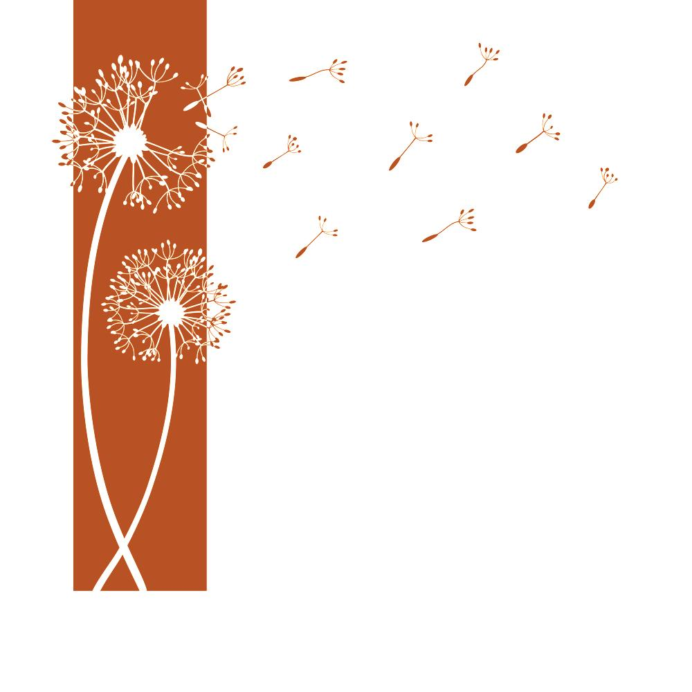 Designscape wandtattoo banner pusteblumen pusteblume for Pusteblume dekoration