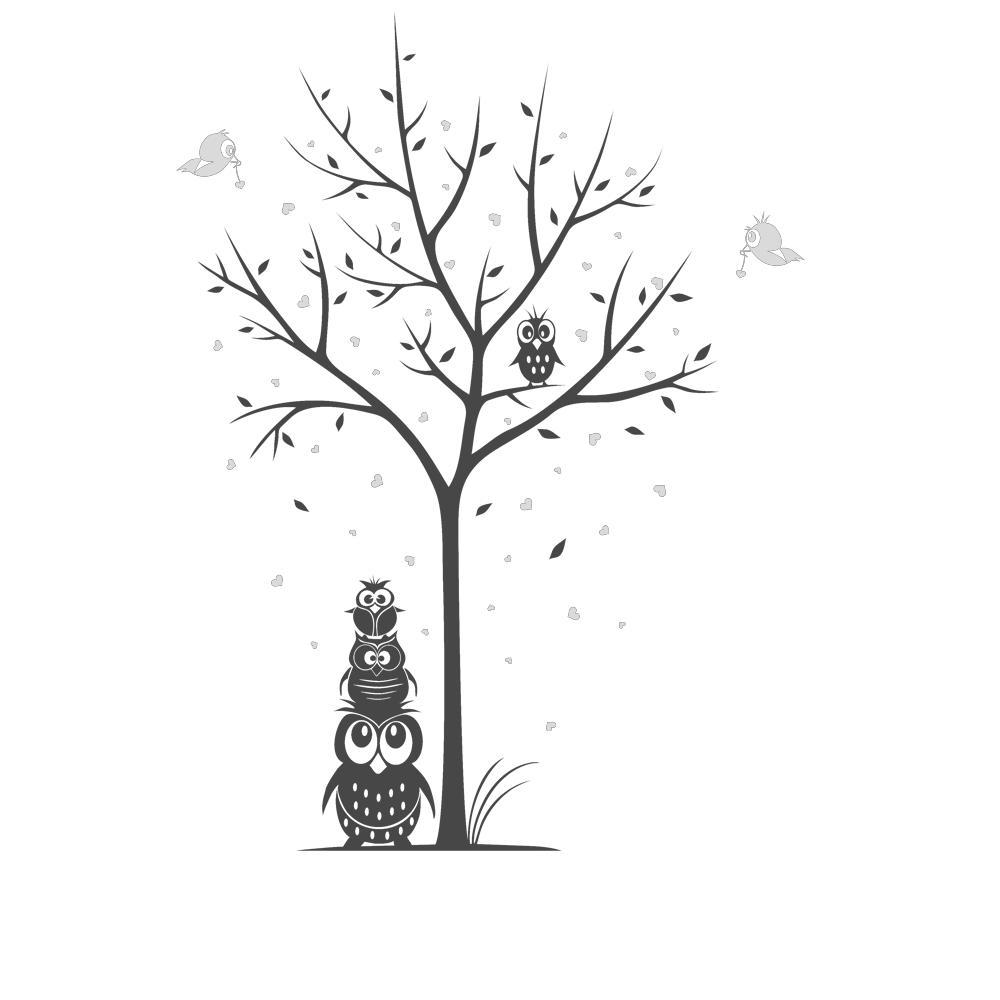 Schön Wandsticker Baum Das Beste Von Wandtattoo-baum-mit-eulen-und-herzen-kinderzimmer-designscape