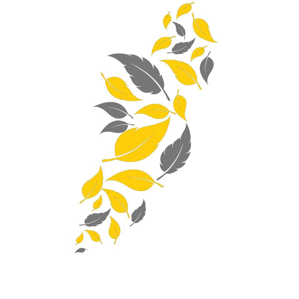 Wandtattoo Blätter Deko Fallende Blätter in zwei Farben von DESIGNSCAPE u00ae eBay ~ 01120309_Blätter Von Sukkulenten Fallen Ab