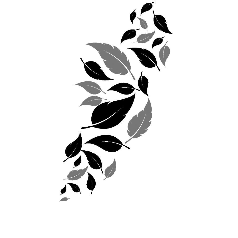 Wandtattoo Blätter Deko | Fallende Blätter in zwei Farben von ...