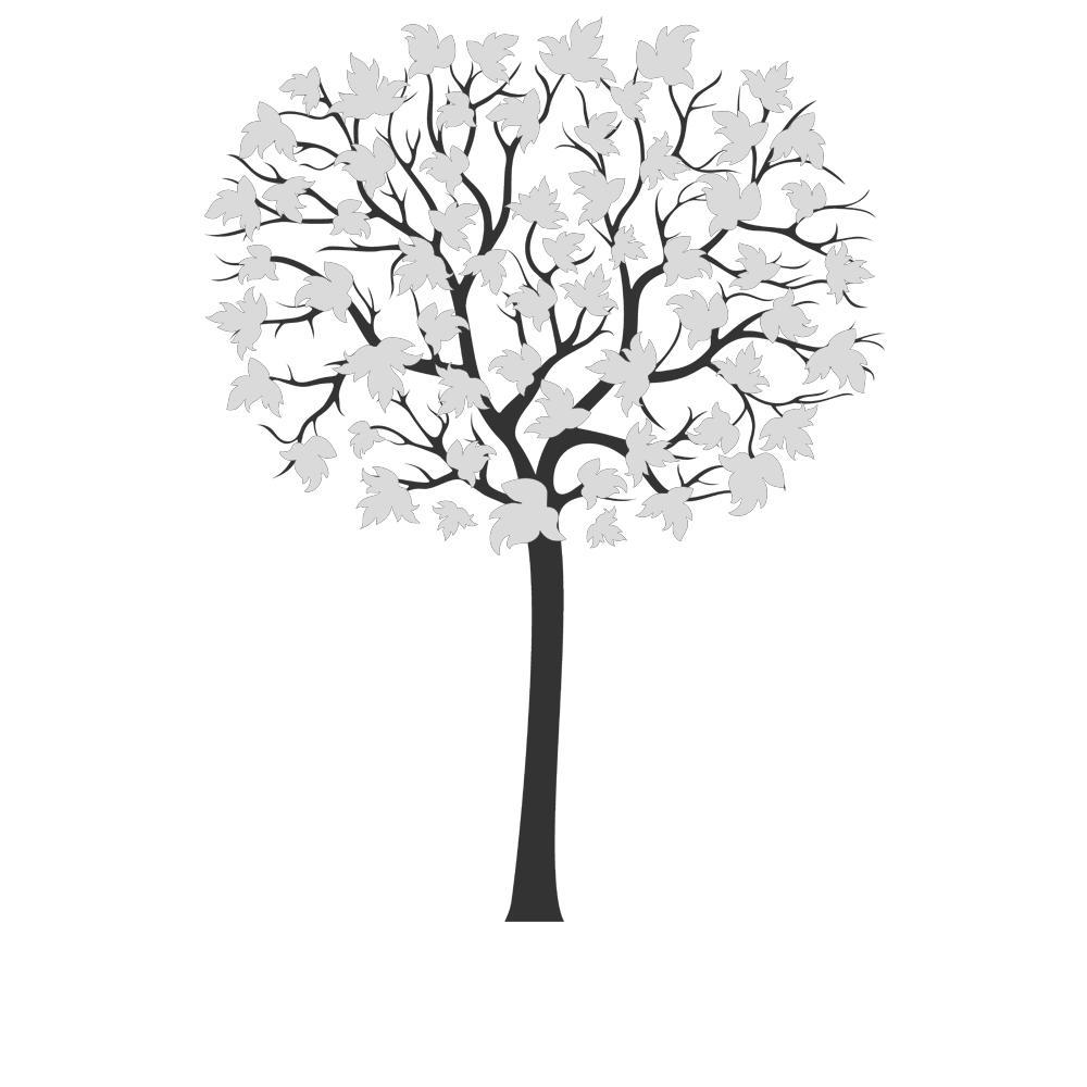 Bezaubernd Wandsticker Baum Foto Von Wandtattoo Gro223er Zweifarbiger Mit Gro223en