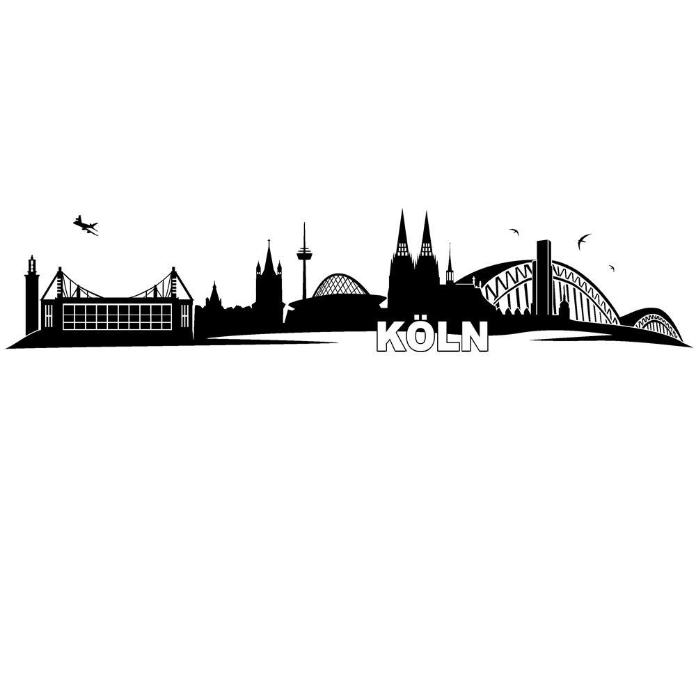 Schön Wandtattoo Köln Das Beste Von Wandtattoo-koeln-skyline-stadt-silhouette-zum-aufkleben-von-