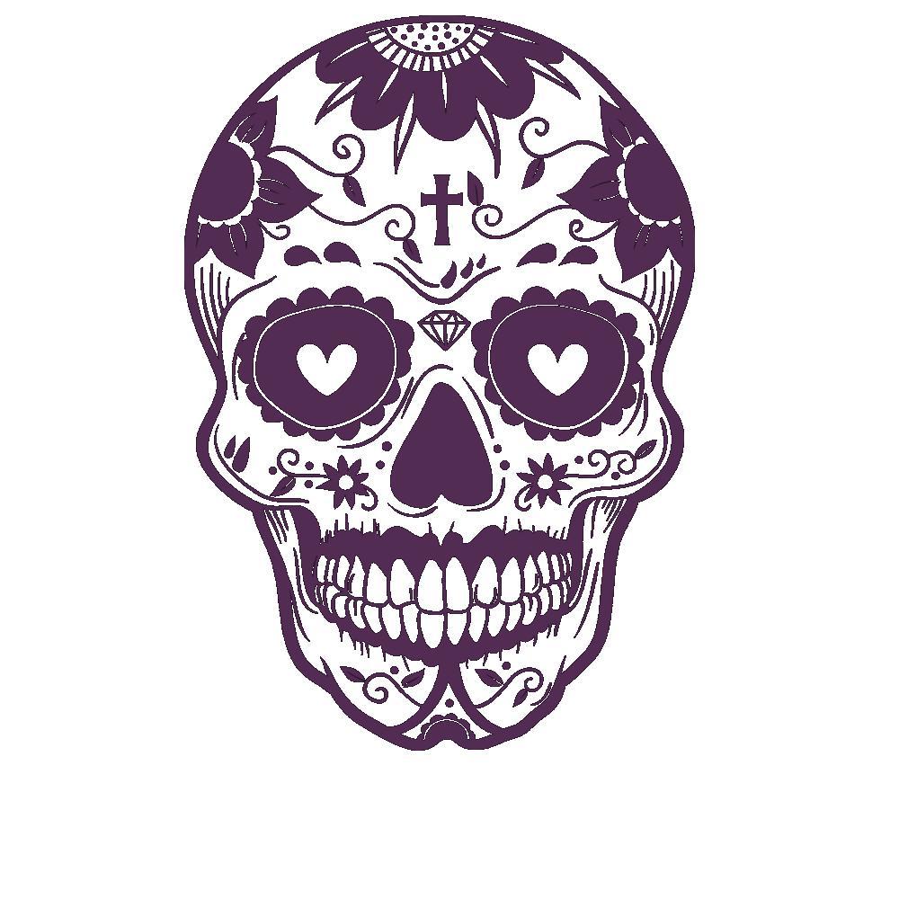 wandtattoo mexikanischer totenkopf wandtattoo skull von designscape ebay. Black Bedroom Furniture Sets. Home Design Ideas