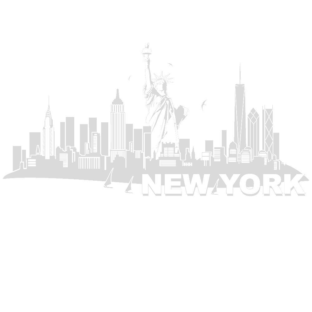 Blickfang Wandtattoo New York Foto Von Skyline Mit Freiheitsstatue Von Designscape®