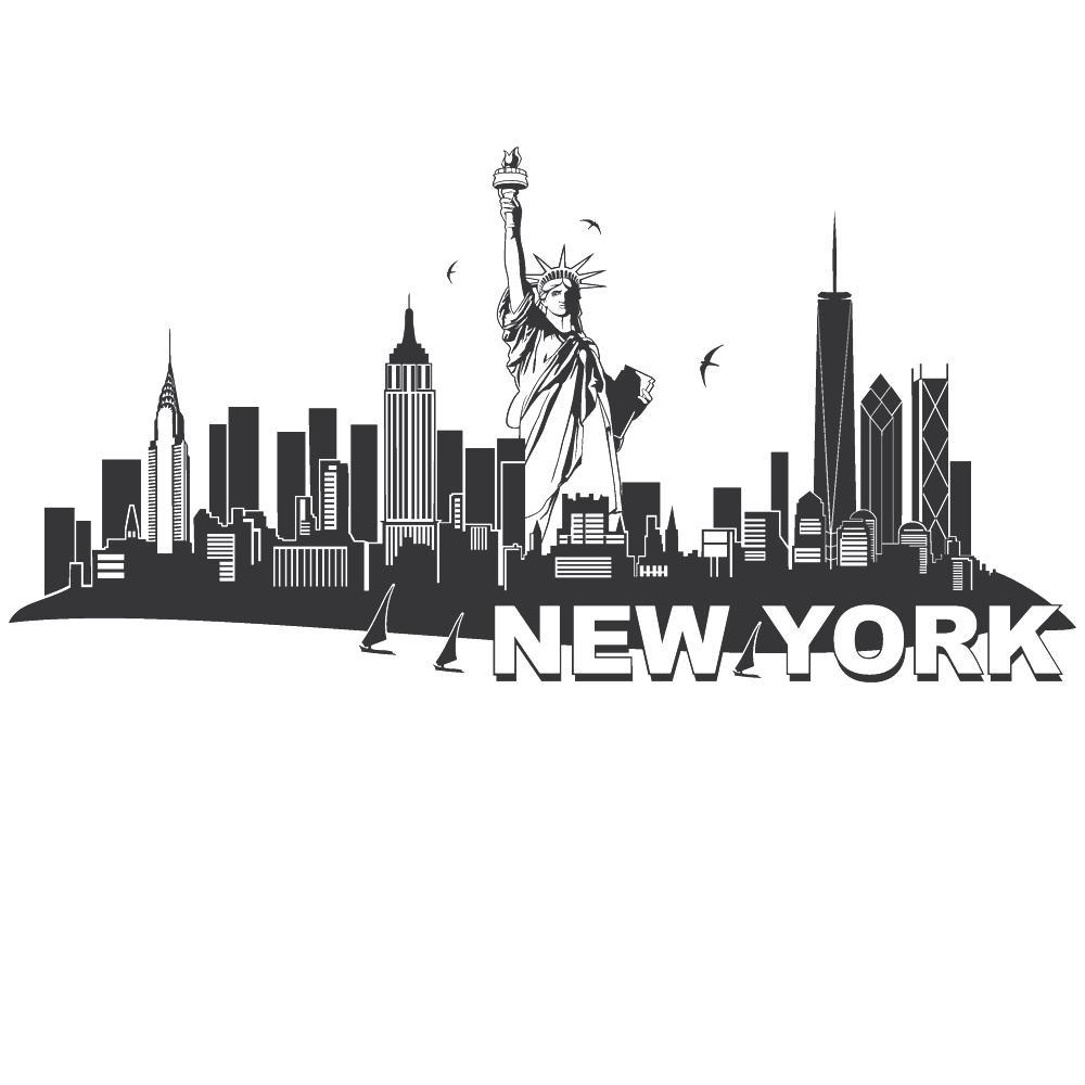 Inspirierend New York Wandtattoo Das Beste Von Wandtattoo-new-york-skyline-mit-freiheitsstatue-von-designscape