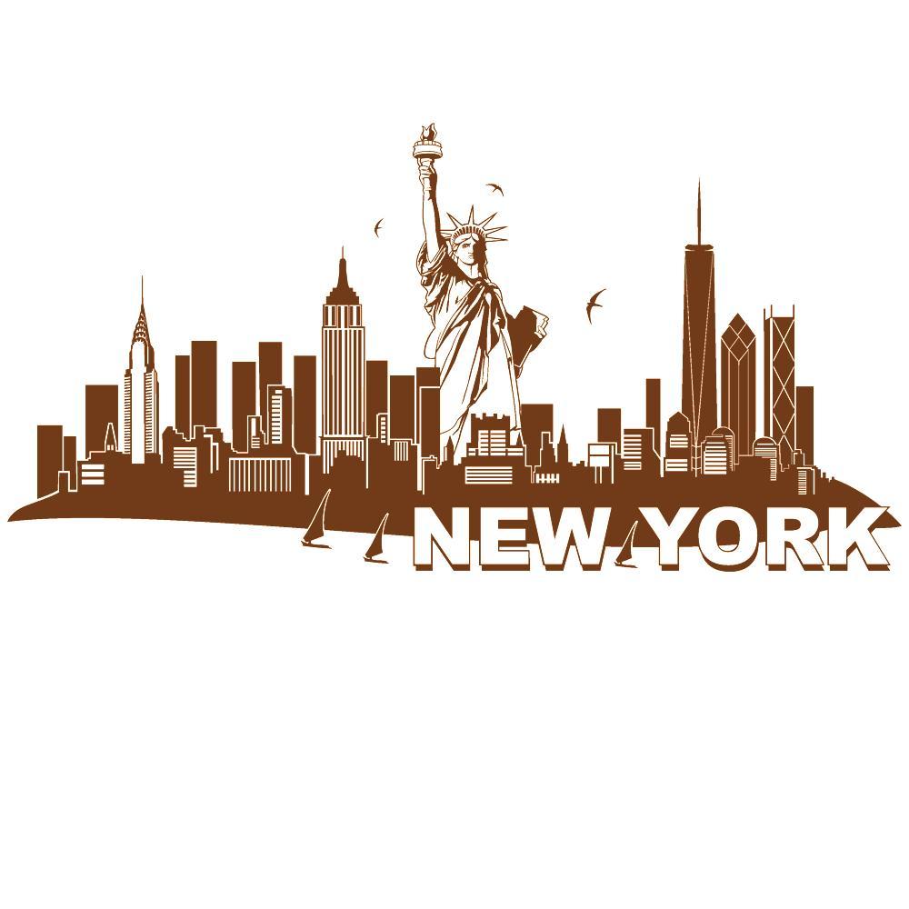 Wandtattoo New York Skyline Mit Freiheitsstatue Von DESIGNSCAPE