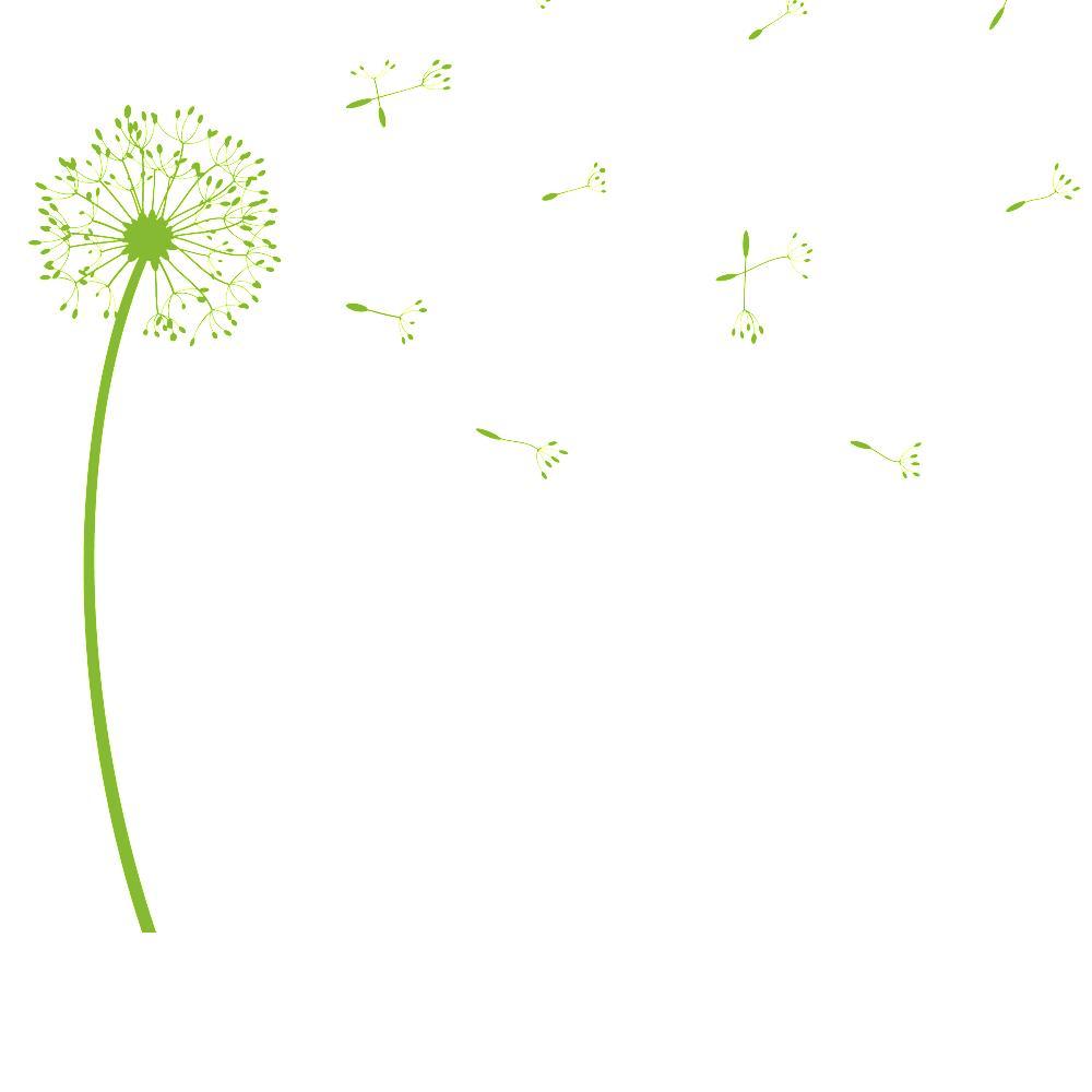 Wandtattoo pusteblume originelle pusteblumen dekoration for Pusteblume dekoration