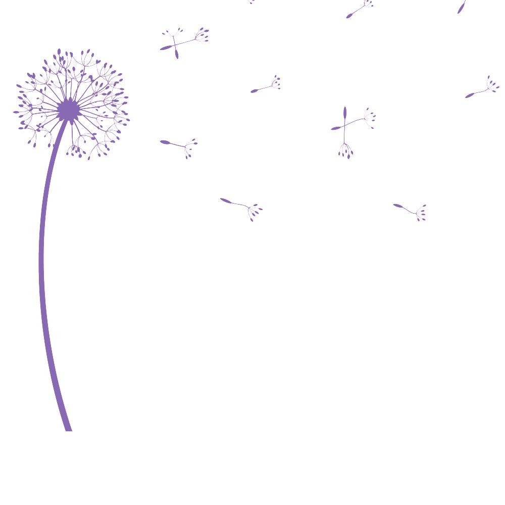Wandtattoo pusteblume originelle pusteblumen dekoration - Wandtattoo pusteblume amazon ...