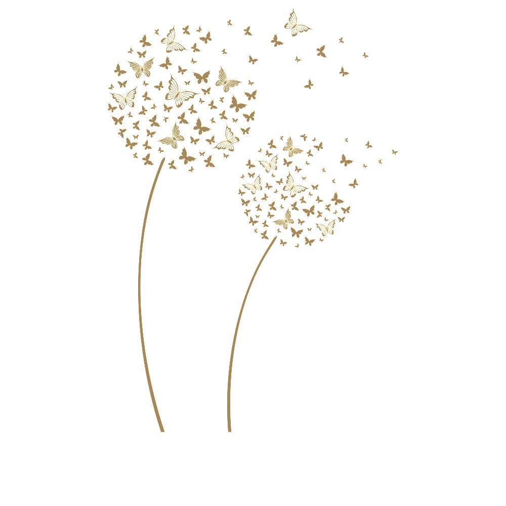 Wandtattoo pusteblumen aus schmetterlingen blumen deko for Pusteblume dekoration