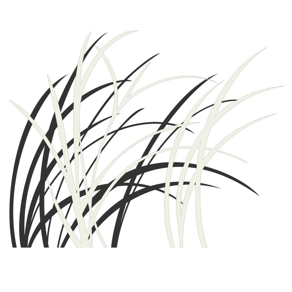 wandtattoo zweifarbige gr ser im wind f r den wohnbereich von designscape ebay. Black Bedroom Furniture Sets. Home Design Ideas
