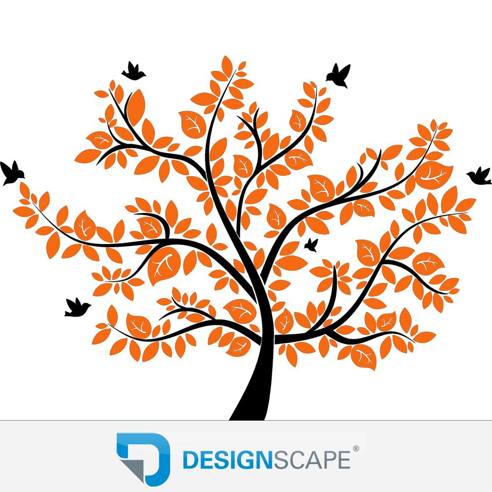 xxl wandtattoo baum wandtattoo lebensbaum von designscape ebay. Black Bedroom Furniture Sets. Home Design Ideas