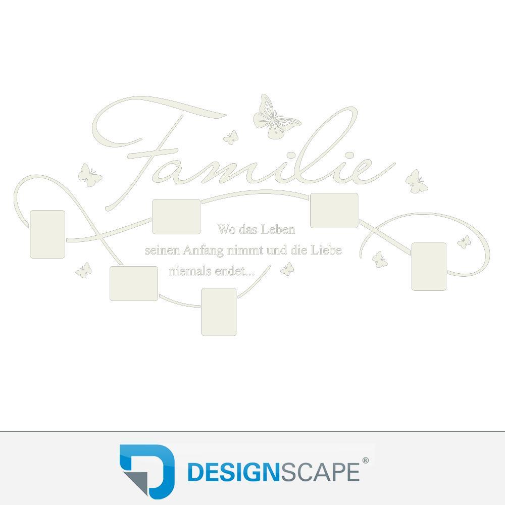 wandtattoo bilderrahmen familie mit 6 fotorahmen von designscape ebay. Black Bedroom Furniture Sets. Home Design Ideas