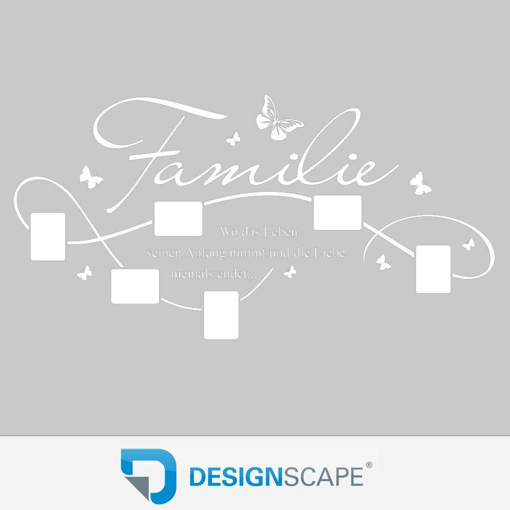 wandtattoo bilderrahmen familie mit 6 fotorahmen von. Black Bedroom Furniture Sets. Home Design Ideas