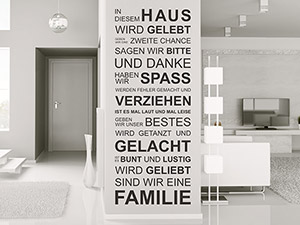 wandtattoo spruch von beliebte spr che als wandtattoos. Black Bedroom Furniture Sets. Home Design Ideas