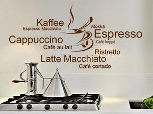 wandtattoo für die küche ~ kreative bilder für zu hause design ... - Wandtattoos Küche Kaffee