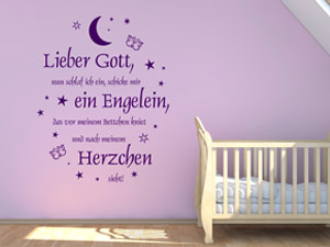 engel wandtattoos schutzengel im kinderzimmer. Black Bedroom Furniture Sets. Home Design Ideas
