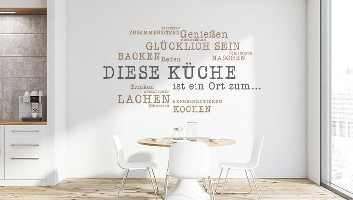 Wandtattoos für die Küche  Wandgestaltung  WANDTATTOO.DE