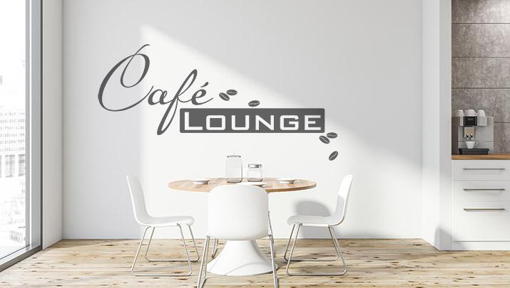 238 wandtattoo cafe lounge mit kaffeebohnen