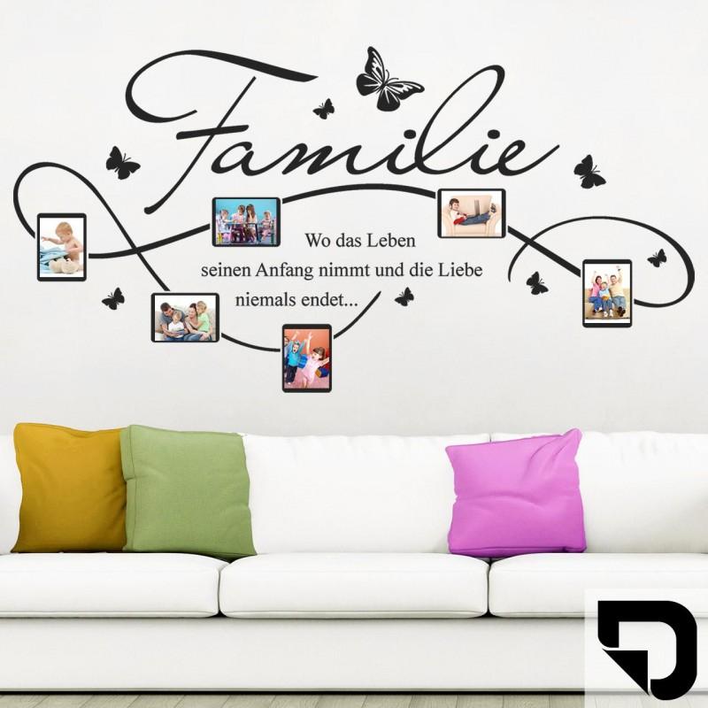 wandtattoo bilderrahmen familie mit 6 fotorahmen designscape ebay. Black Bedroom Furniture Sets. Home Design Ideas
