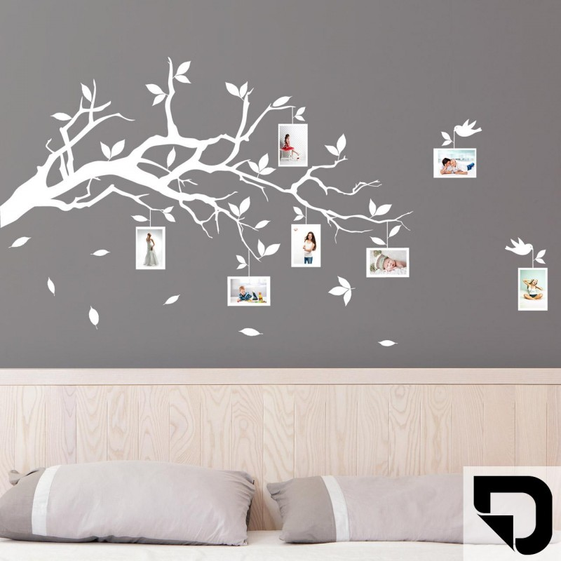 wandtattoo ast mit fotorahmen designscape. Black Bedroom Furniture Sets. Home Design Ideas