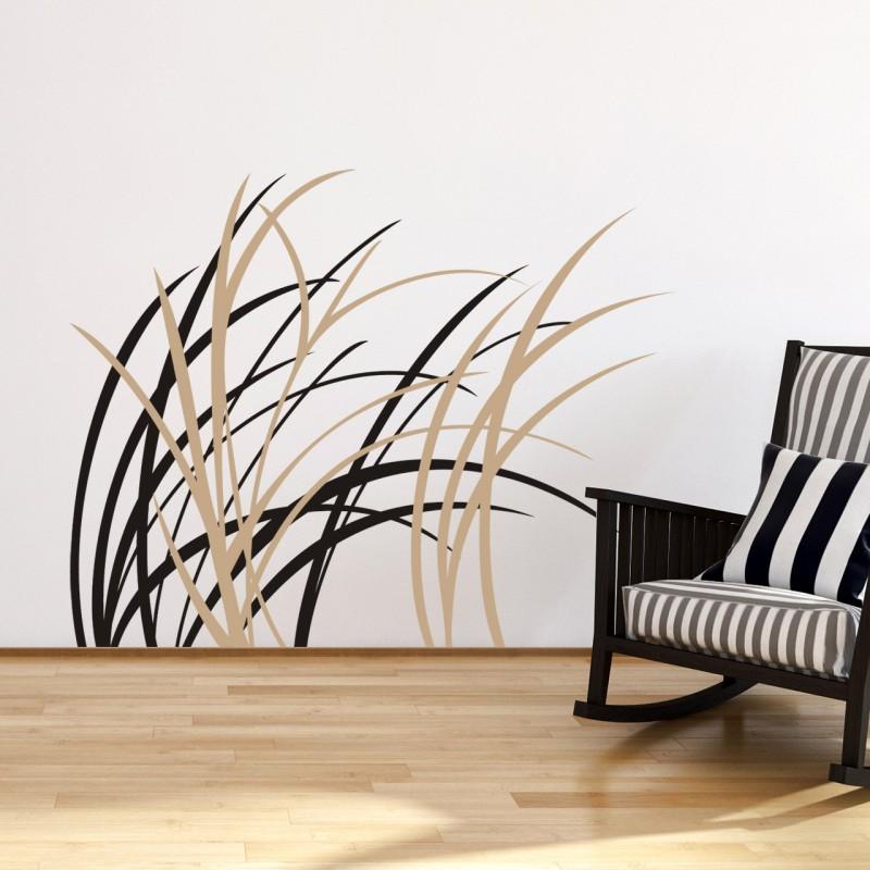 wandtattoo zweifarbige gr ser im wind f r den wohnbereich von designscape. Black Bedroom Furniture Sets. Home Design Ideas