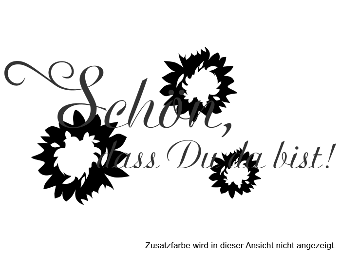 Wandtattoo Name in schwarz