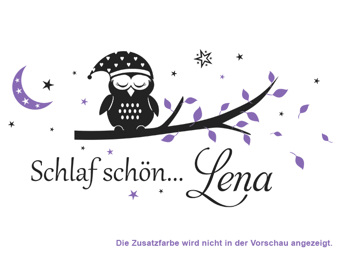 Wandtattoo Name in lavendel