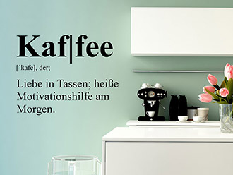 Wandtattoo Kaffee Definition