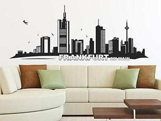 Skyline von Frankfurt als Wandtattoo