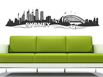 Skyline von Sydney als Wandtattoo