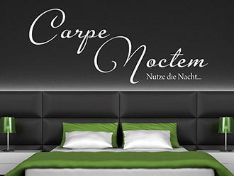 Wandtattoo Carpe Noctem - Nutze die Nacht