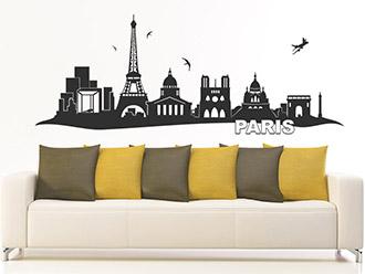 Skyline von Paris als Wandtattoo