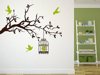 wandtattoo dekorativer bl tenzweig mit bl ttern. Black Bedroom Furniture Sets. Home Design Ideas