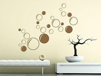 Großartig Kreise Wandtattoo Ornament Bubbles Im Wohnbereich
