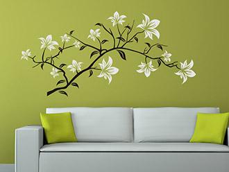 Wandtattoo Dekorativer Blütenzweig
